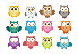 Cute Owl Vector Icons   vectores   Pinterest   Owl and Clip art
