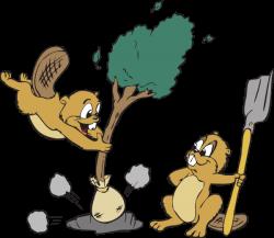 Beavers Planting A Tree Clip Art at Clker.com - vector clip art ...