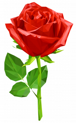 Crystal Red Rose Transparent PNG Clip Art Image | Gallery ...