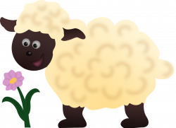 Public Domain Clip Art Image | Happy Sheep | ID: 13533853215786 ...