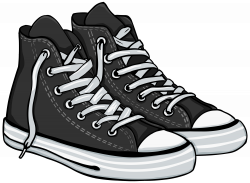 Tennis shoes clipart black and white collection | Images | Pinterest ...