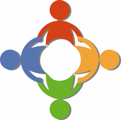 Community by @russel, A community logo with persons holding hands ...