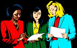 Clipart - Women Teamwork
