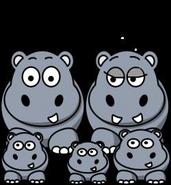 Hippo Family Clip Art at Clker.com - vector clip art online, royalty ...