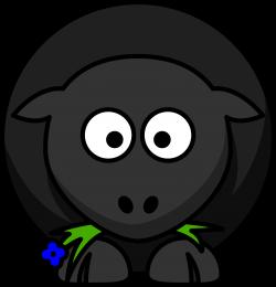 Clipart - Cartoon Black Sheep