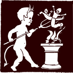 Clipart - Evil Cupid: Fire