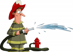 Firefighter Fire hydrant Clip art - Firefighters extinguishing 1000 ...