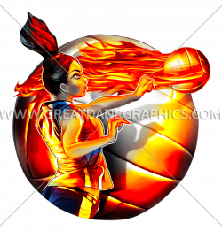 Volleyball Fire Spike | Production Ready Artwork for T-Shirt Printing