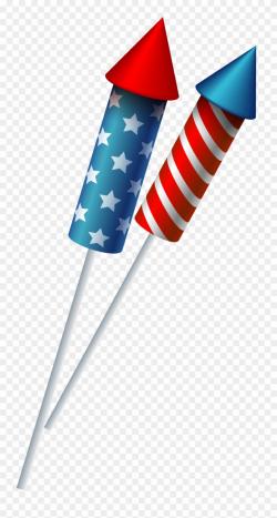 Firework Clipart Rocket Flag - Transparent Background ...