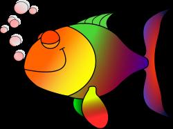 Clipart - Happy fish happily asleep