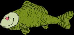 Fish | Free Stock Photo | Illustration of a green fish | # 10646