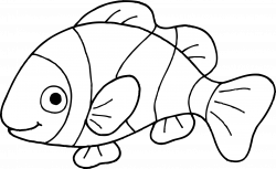 Fish Clipart Black And White | Letters Format