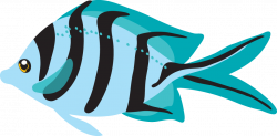 Blue fish clipart - Clipartix