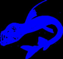 Viper Fish Blue Clip Art at Clker.com - vector clip art online ...