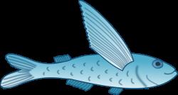 Important Clip Art Fish Clipart Flying #32141