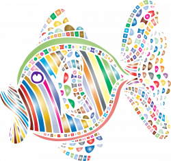 Clipart - Abstract Colorful Fish 4