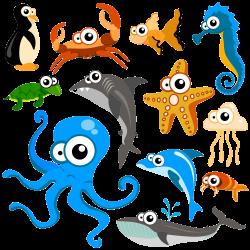 Hippopotamus Cartoon Animal Clip art - Blue Sea Fish 123 1000*1000 ...