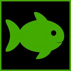 Clipart - eco green fish icon