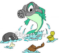 Fish, Wearing a Gas Mask, In a Polluted Lake - Royalty Free ...