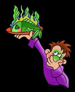 Five Senses Clip Art by Phillip Martin, Smelly Fish