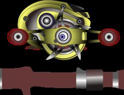 Clipart - Bait cast reel