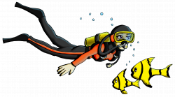 Scuba Diver with Fish and Bubbles by TRice01 on DeviantArt