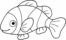 Fish Clipart Free Black And White   Model Aviation