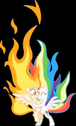 flame Princess Twilight' and 'super Rainbow Dash' by hotsun6392 on ...