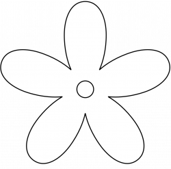 28+ Collection of Simple Flowers Clipart Black And White | High ...