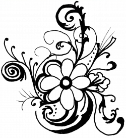 28+ Collection of Clipart Flowers Black And White Borders | High ...