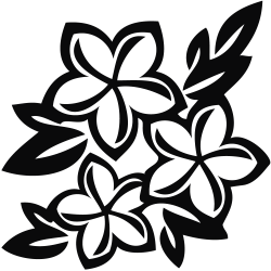 28+ Collection of Jasmine Flower Clipart Black And White | High ...