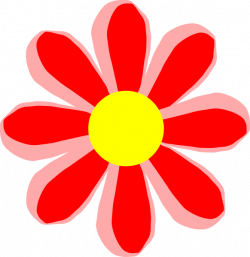 Flower Cartoon Red Clip Art at Clker.com - vector clip art online ...