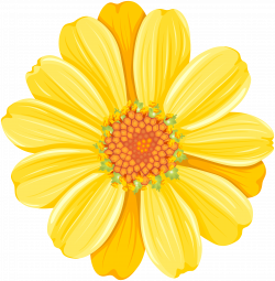 Yellow Daisy PNG Transparent Clip Art Image   Gallery Yopriceville ...