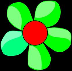 Green Flower Clip Art at Clker.com - vector clip art online, royalty ...