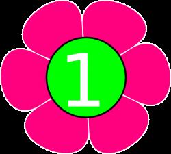 1 Pink Green Flower Clip Art at Clker.com - vector clip art online ...