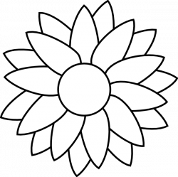 flower Free Rhinestone Template Downloads | Sun Flower Template clip ...