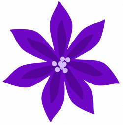 28+ Collection of Purple Clipart Flower | High quality, free ...