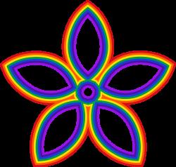 Clipart - Rainbow Flower
