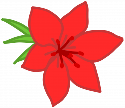Clipart - Red flower