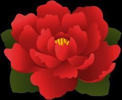 Red Flower Transparent Clip Art | Gallery Yopriceville - High ...