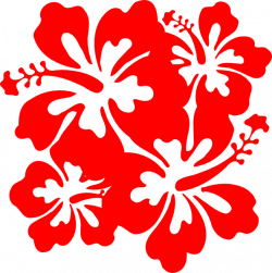 Red Hawaiian Flower red flower clipart hibiscus pencil and in color ...