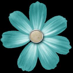 Com -Free Elements: Free Teal Digi Scrapbook Brad Flower | Flower ...