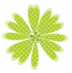 Free Scrapbook Graphics: Polka Dot Daisy + Frames + Backgrounds ...