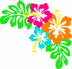 Tropical Leaves Clip Art   Hibiscus clip art   DIY and Crafts ...