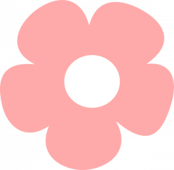 Simple Pink Flower Clip Art at Clker.com - vector clip art online ...