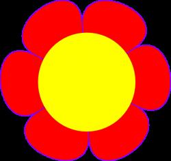 Red Flower Yellow Center Clip Art at Clker.com - vector clip art ...