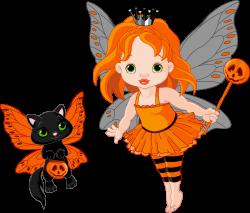 Transparent halloween fairy and cat 0 cliparts - Clipartix | Clip ...