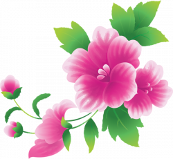 Large Pink Flowers Clipart | Flowers | Pinterest | Flowers, Clip art ...