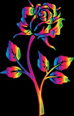 Clipart - Rainbow Rose No Background | pretty art | Pinterest ...