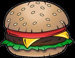 Junk Food Clip Art | Free Clip-Art: Food » Junk Food » Cheeseburger ...